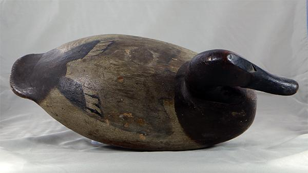 Will Heverin Canvasback hen in original paint, circa 1925.