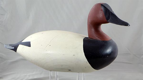 Horace D. Graham Canvasback drake in original paint, circa 1965.