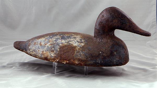 Will Heverin Canvasback iron wing duck, circa 1880.